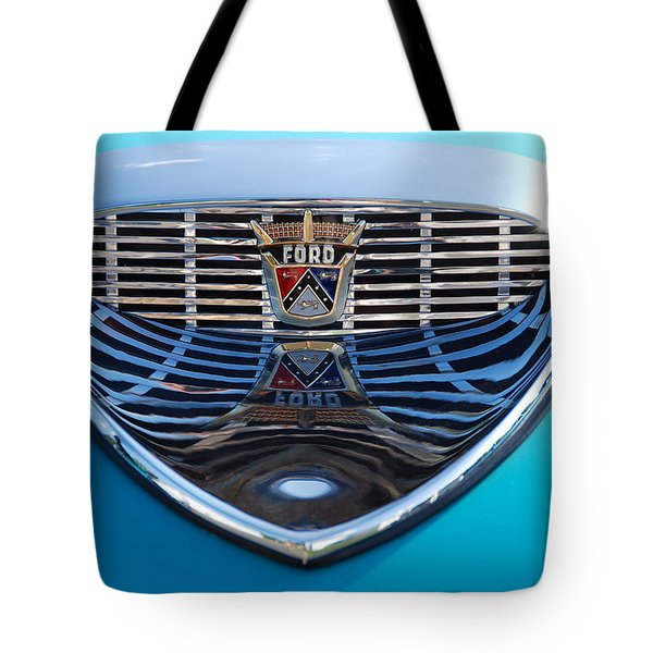 Tote Bag featuring the photograph Reflecting Ford by John Schneider
