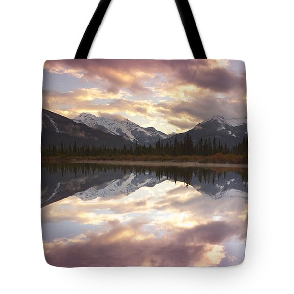 Tote Bag featuring the photograph Reflecting Mountains by Keith Kapple
