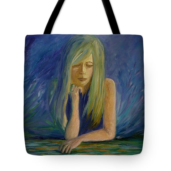 Reflecting On My Youth Tote Bag by Joanne Smoley