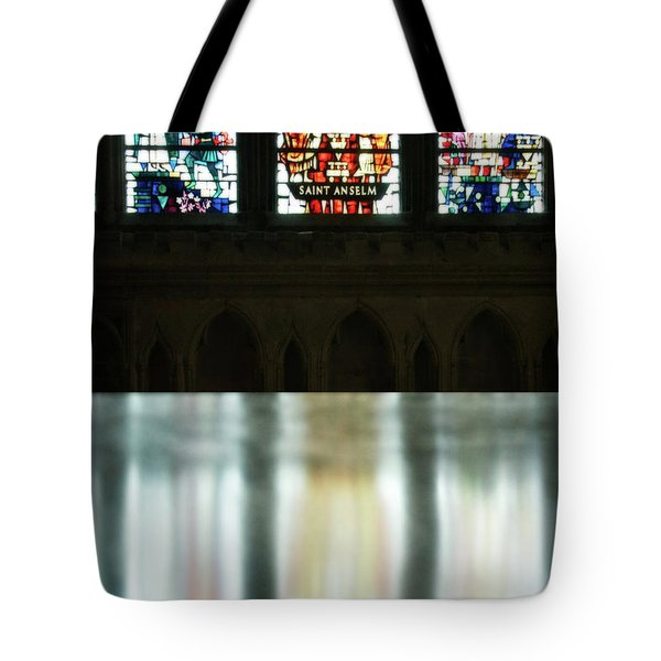 Reflecting On The Beauty Of Canterbury Cathedral Tote Bag by Lisa Knechtel