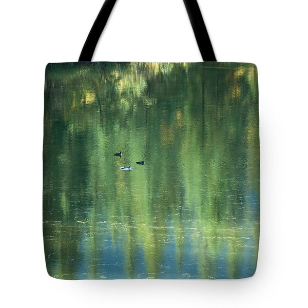 Tote Bag featuring the photograph Reflection by Bob and Nancy Kendrick