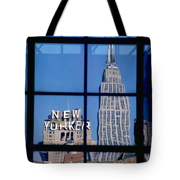 Reflection Empire State Building Tote Bag