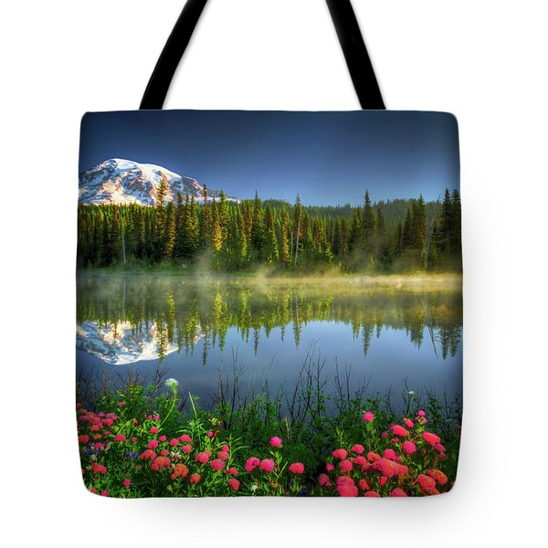 Tote Bag featuring the photograph Reflection Lakes by William Lee