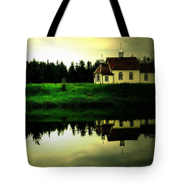 Reflection Of Faith  Tote Bag by Empty Wall
