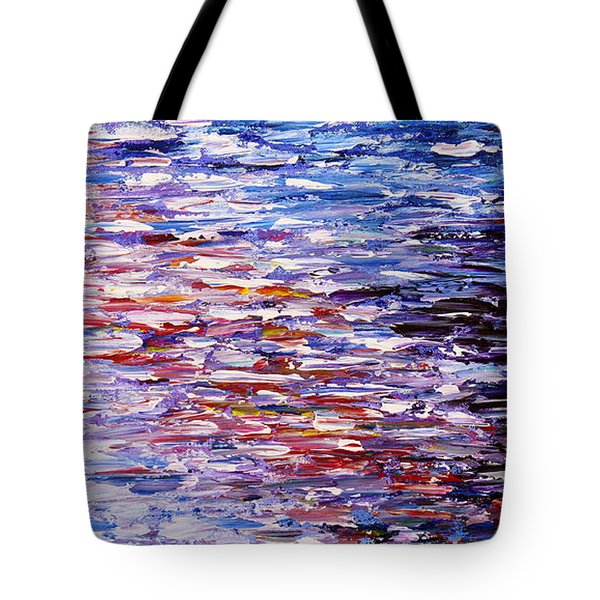 Tote Bag featuring the painting Reflections by Kume Bryant