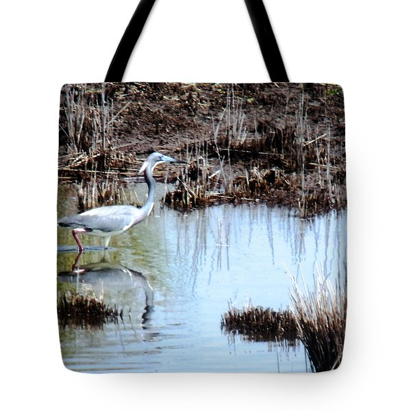Reflections Of A Blue Heron Tote Bag