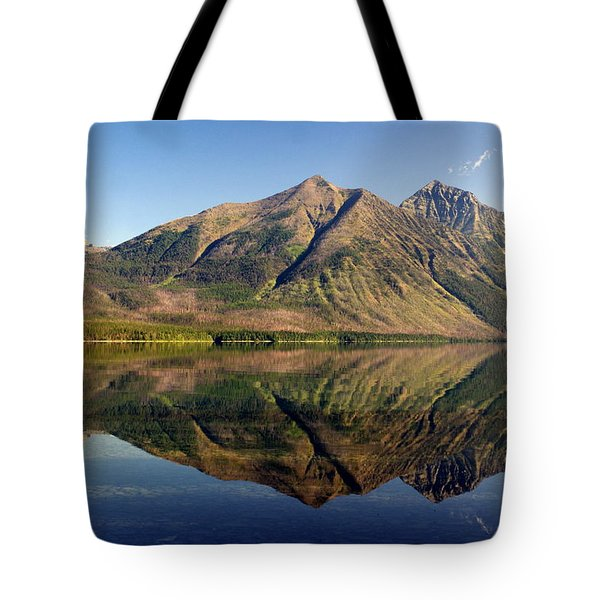 Reflections On Lake Mcdonald Tote Bag by Marty Koch