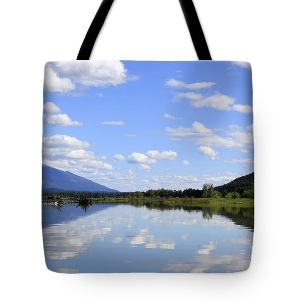 Tote Bag featuring the photograph Reflections On Swan Lake by Nina Prommer