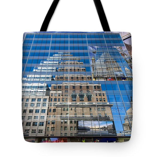 Reflections On Washington Tote Bag by Jim Moore