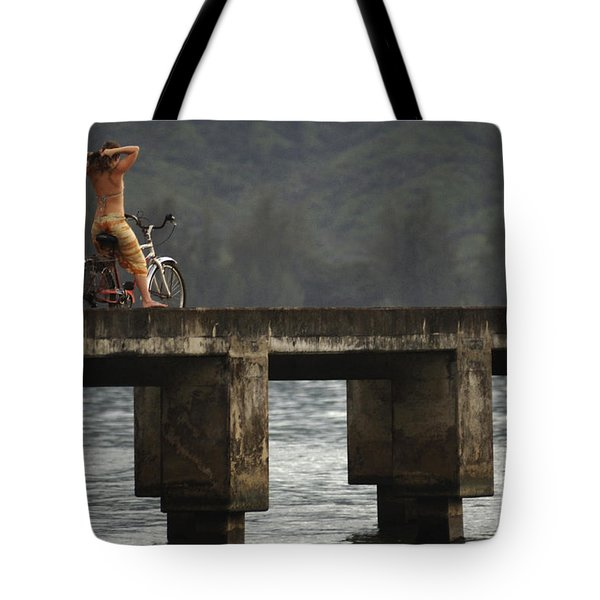 Relaxed Ride Hanalei Bay Tote Bag by Bob Christopher