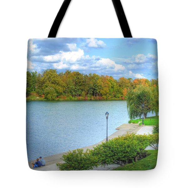 Tote Bag featuring the photograph Relaxing At Hoyt Lake by Michael Frank Jr