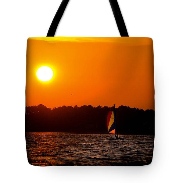 Relaxing Day On Dewey Bay Tote Bag by Trish Tritz
