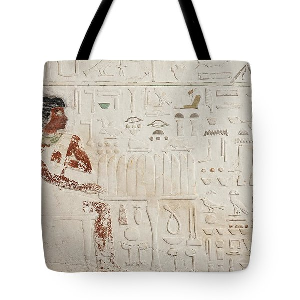 Relief Of Ka-aper With Offerings - Old Kingdom Tote Bag by Egyptian fourth Dynasty