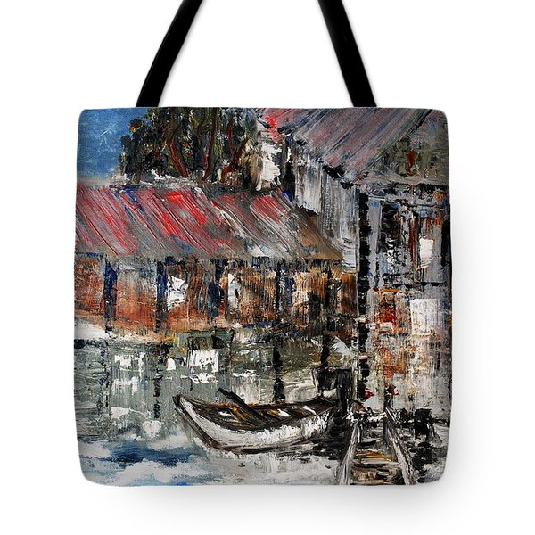 Tote Bag featuring the painting Resting by Evelina Popilian
