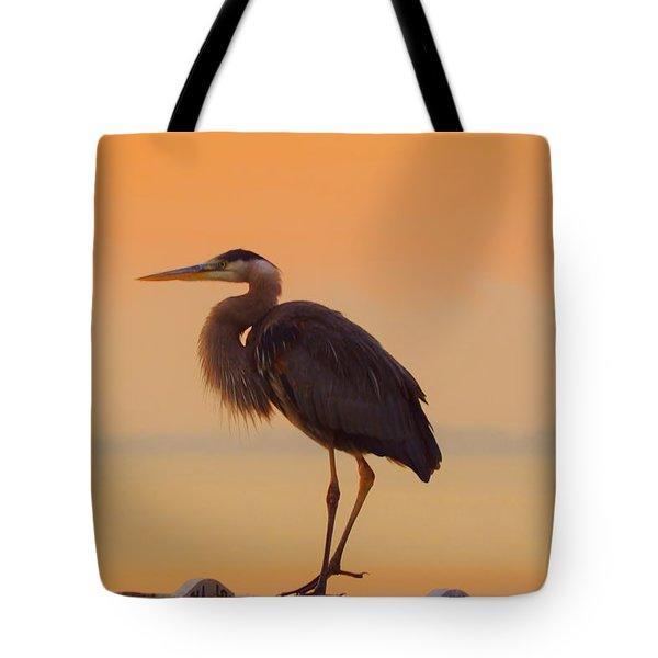 Resting Heron Tote Bag
