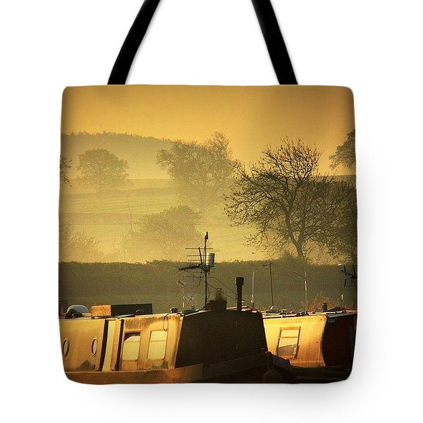 Resting Narrowboats Tote Bag by Linsey Williams