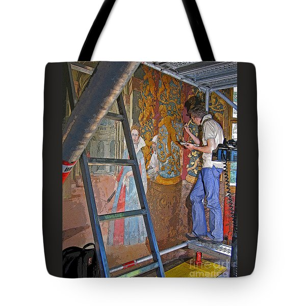 Tote Bag featuring the photograph Restoring Art by Ann Horn