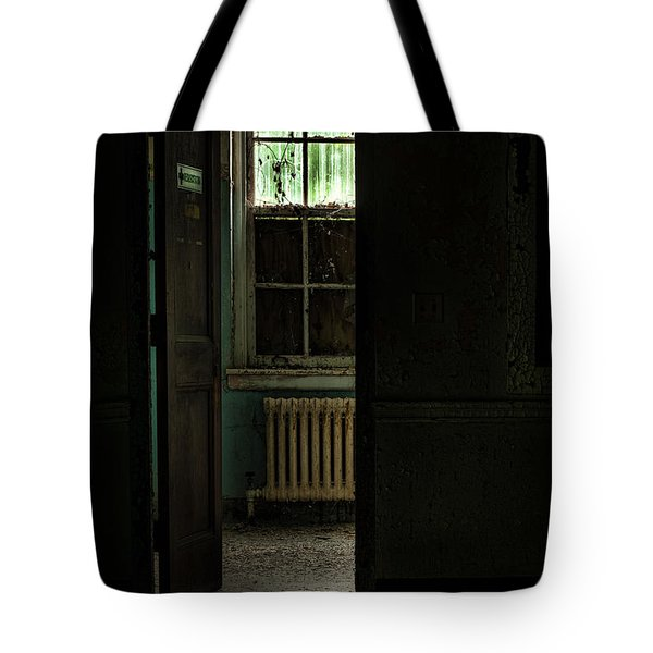 Resuscitator Room Tote Bag by Gary Heller