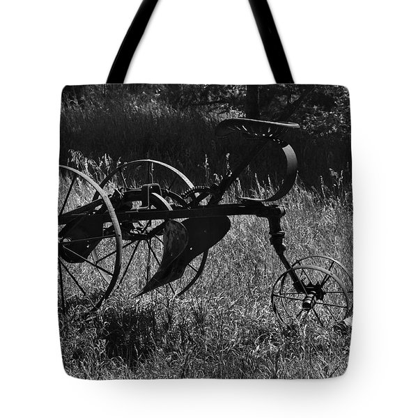 Tote Bag featuring the photograph Retired Farmer by Ron Cline