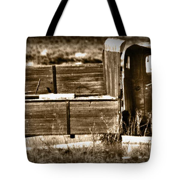 Retired Truck Tote Bag