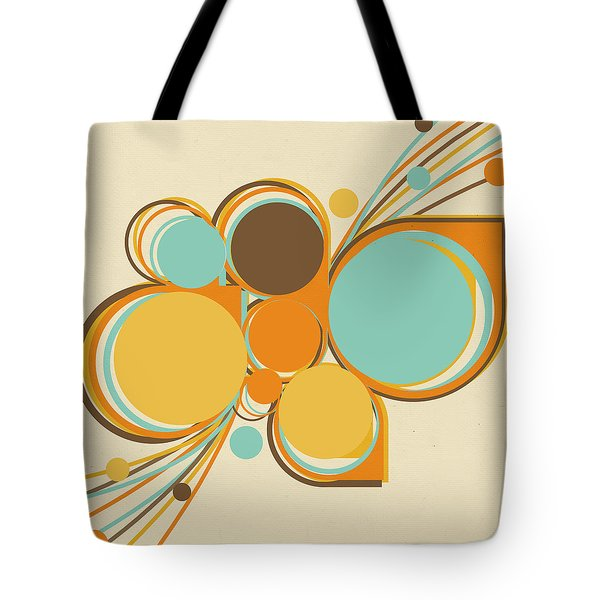 Retro Pattern Tote Bag by Setsiri Silapasuwanchai