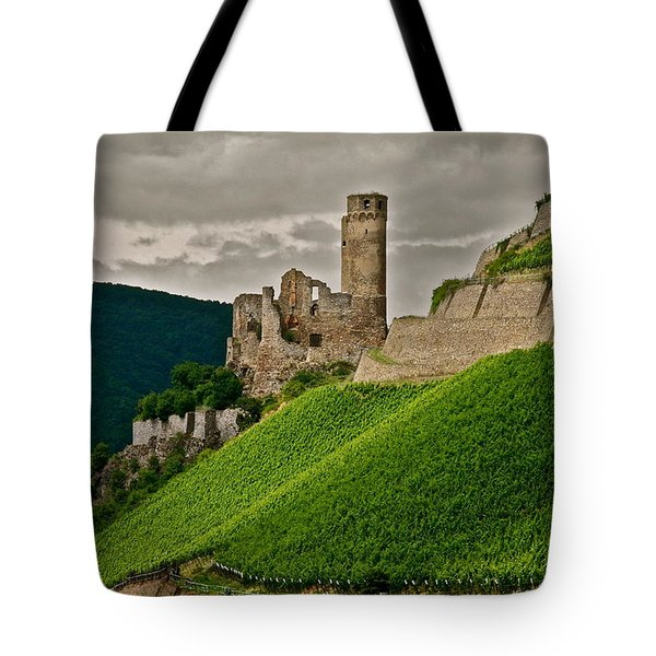 Tote Bag featuring the photograph Rhine River Medieval Castle by Kirsten Giving