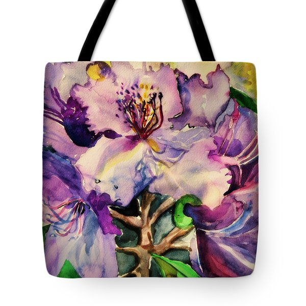 Rhododendron Violet Tote Bag