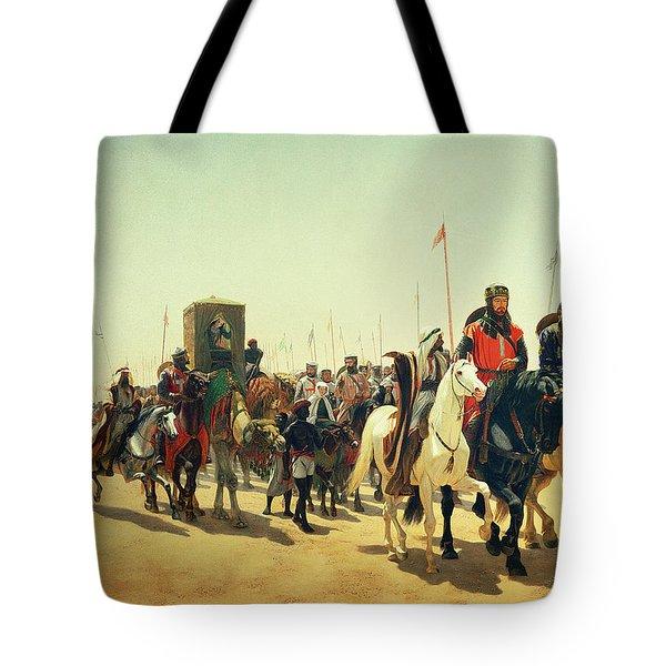 Richard Coeur De Lion On His Way To Jerusalem Tote Bag