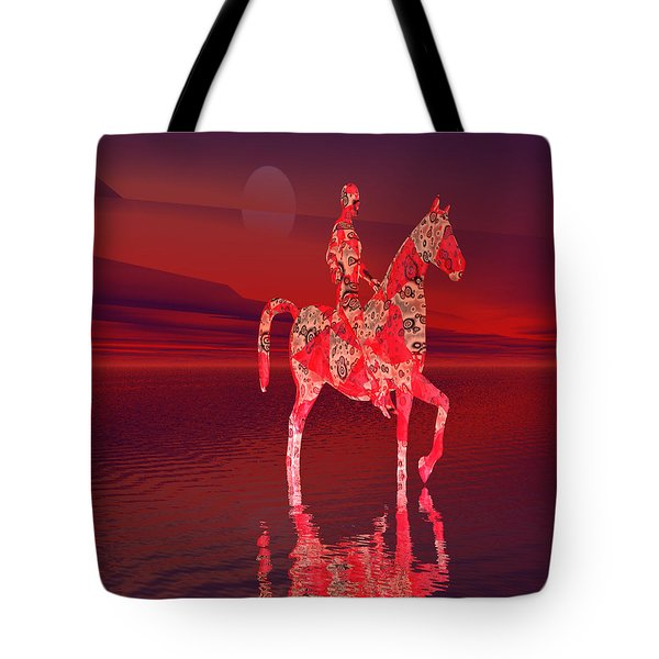 Riding At Dusk Tote Bag by Matthew Lacey