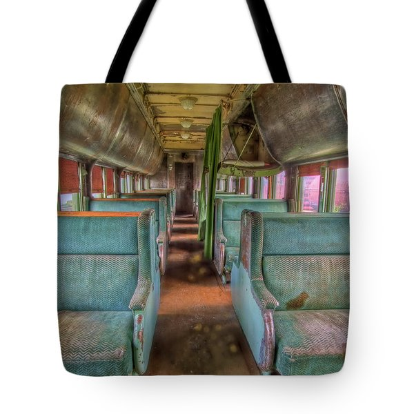 Riding In Coach Tote Bag