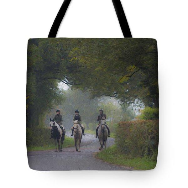 Riding In Tandem Tote Bag