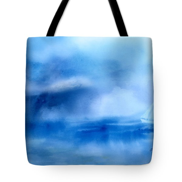 Riding Out The Storm Tote Bag by Arline Wagner