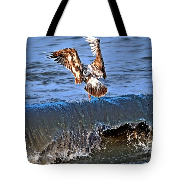 Riding The Wave  Tote Bag by Debra  Miller