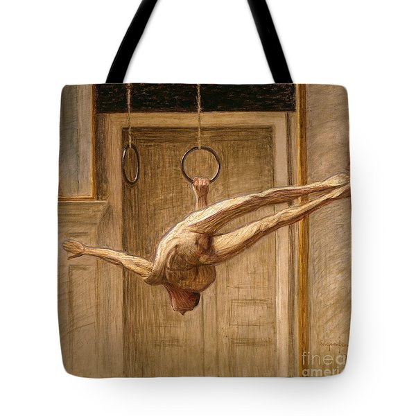 Ring Gymnast No 2 Tote Bag by Eugene Jansson