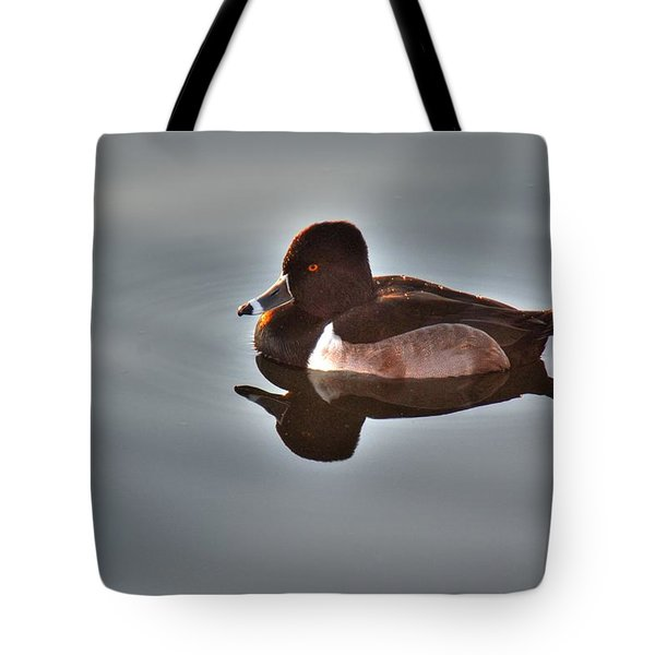Tote Bag featuring the photograph Ring-necked Duck by Tam Ryan