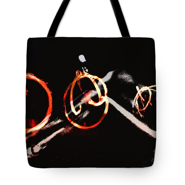 Tote Bag featuring the photograph Burning Rings Of Fire by Clayton Bruster