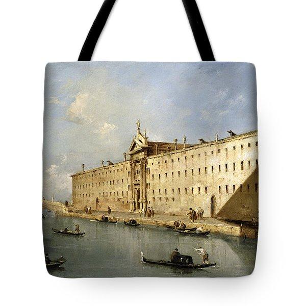 Rio Dei Mendicanti Tote Bag by Francesco Guardi