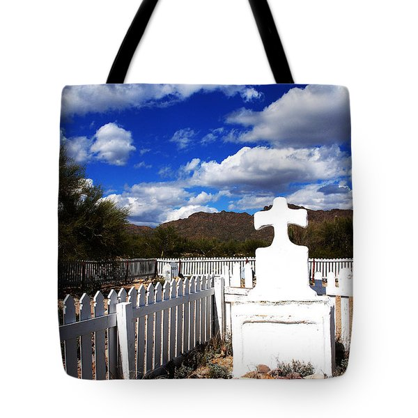 R.i.p. In Old Tuscon Az Tote Bag by Susanne Van Hulst
