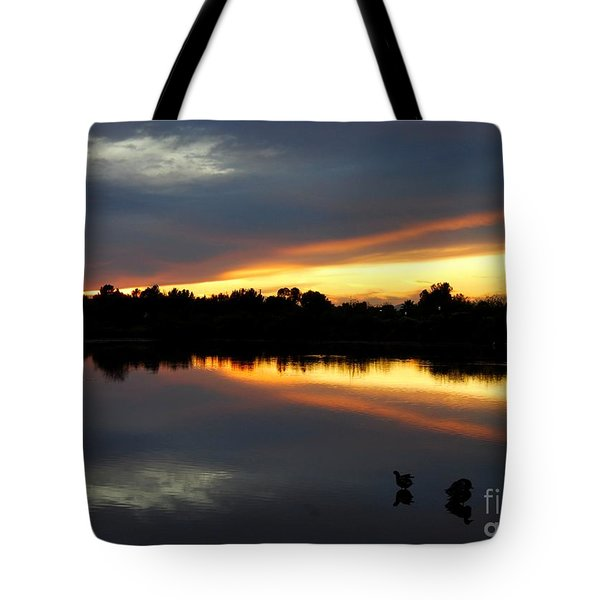 Tote Bag featuring the photograph Riparian Sunset by Tam Ryan