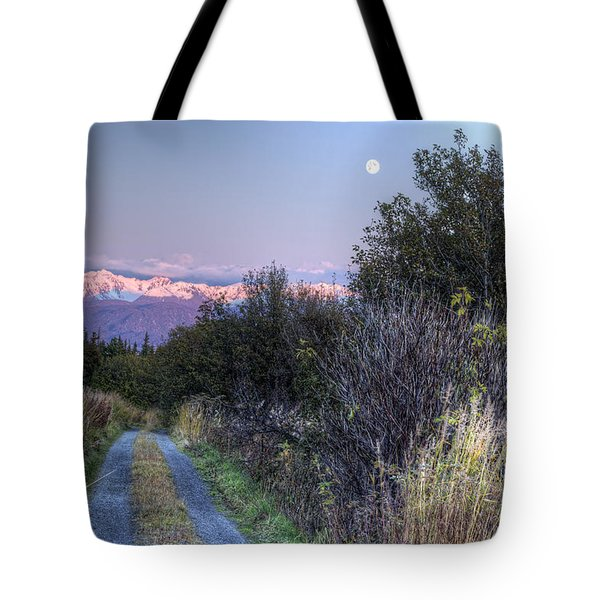 Rising Moon Tote Bag by Michele Cornelius