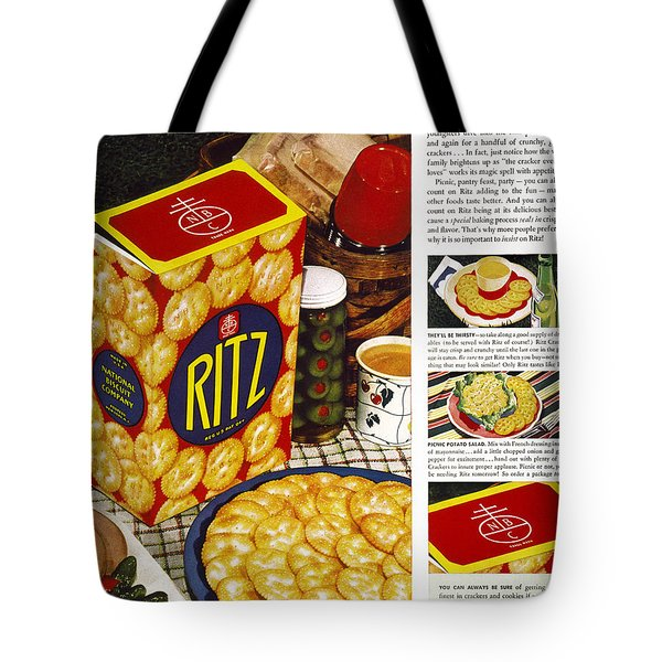 Ritz Crackers Ad, 1940 Photograph By Granger