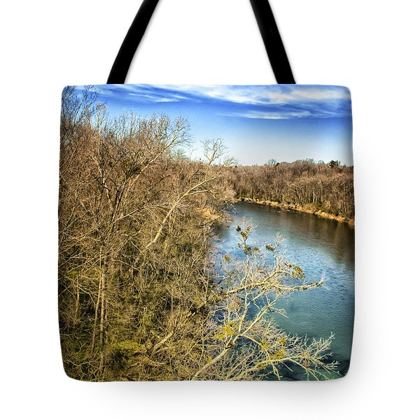 Tote Bag featuring the photograph River Crossing Virginia by Jim Moore