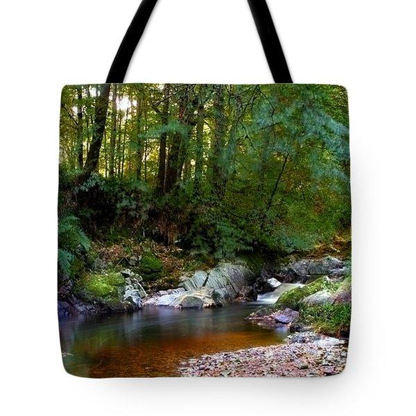 River In Cawdor Big Wood Tote Bag