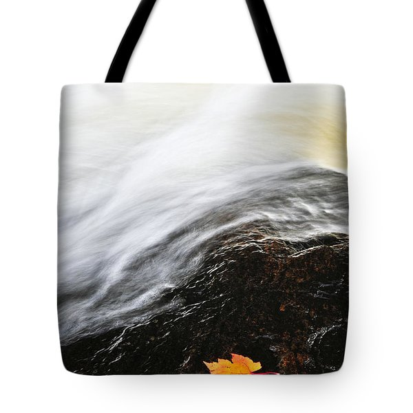 River In Fall Tote Bag