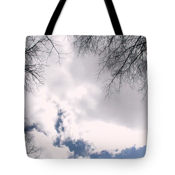 Tote Bag featuring the photograph River In The Sky by Pamela Hyde Wilson