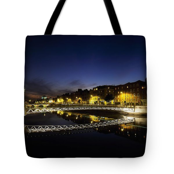 River Liffey, Millenium Footbridge At Tote Bag by The Irish Image Collection