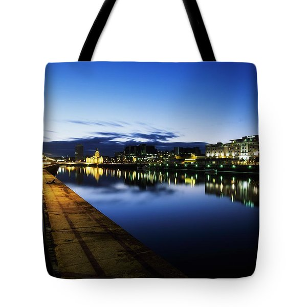 River Liffey, Sunset, View Of Customs Tote Bag by The Irish Image Collection