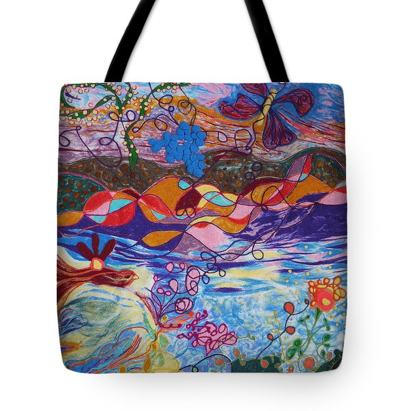 River Of Life Tote Bag by Heather Hennick