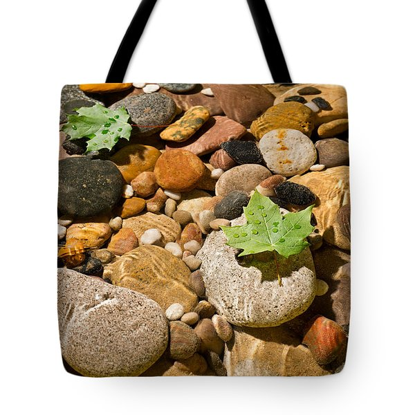 River Stones Tote Bag by Steve Gadomski