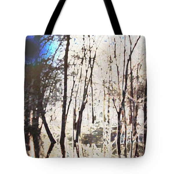 River Trees Tote Bag